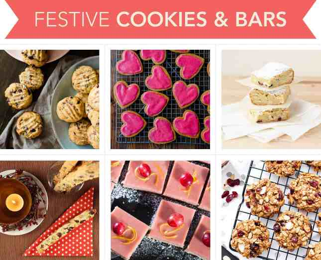 Holiday-worthy recipes to make festive cookies and bars with cranberries // FoodNouveau.com