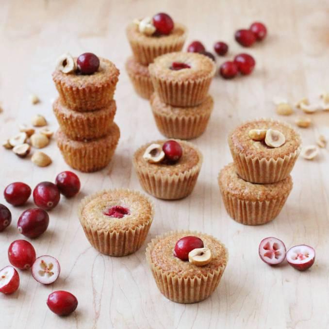 Fresh Cranberry and Hazelnut Financiers