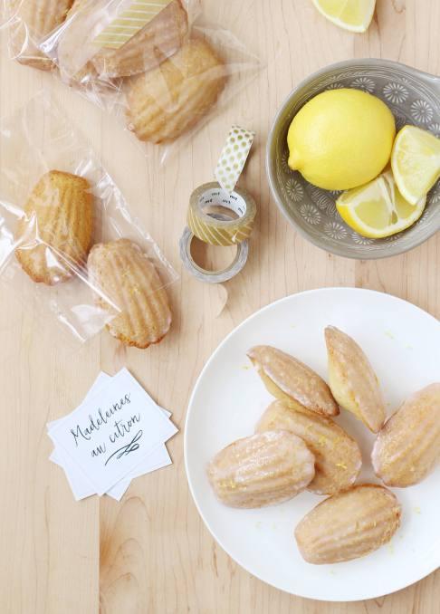 Lemon-Glazed Madeleines