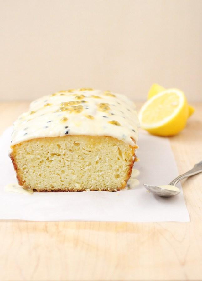 Passion Fruit and Lemon Drizzle Cake // FoodNouveau.com