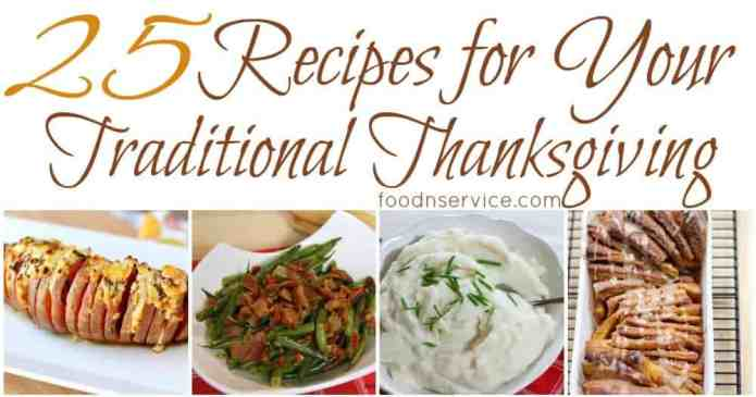 25 Traditional Thanksgiving Recipes
