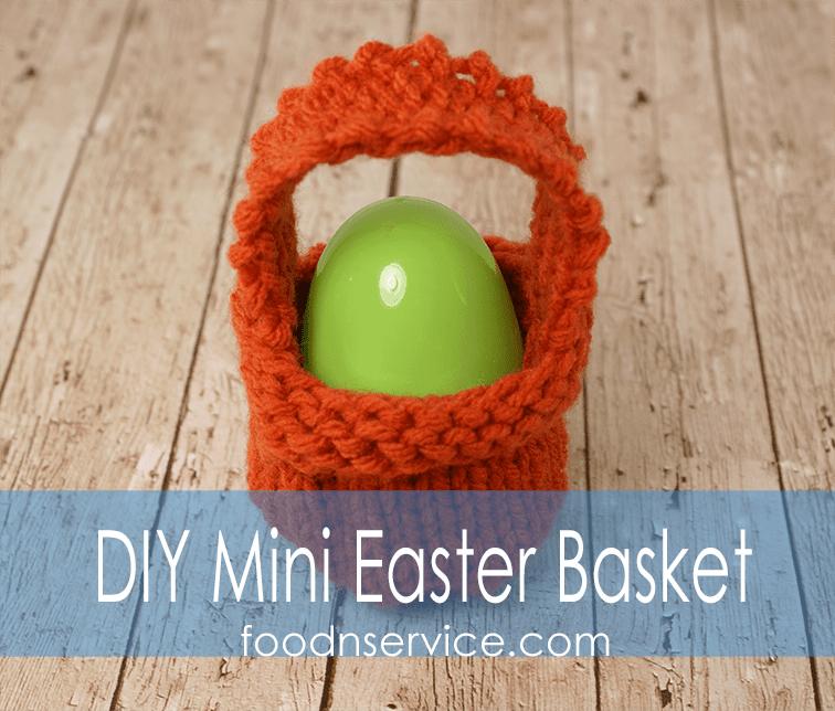 Knitting Easter Baskets : Free easter basket knitting pattern for the beginner