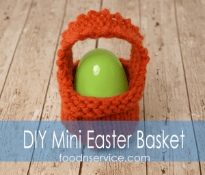 DIY Knitted Mini Easter Basket