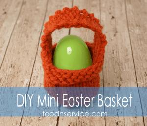 DIY Knitted Mini Easter Basket