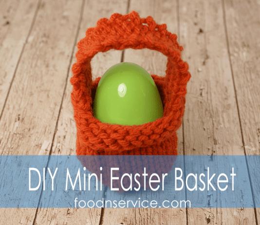 DIY Free Easter Basket Knitting pattern