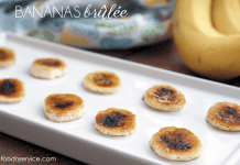Bananas Brûlée is a take on a creme brûlée! It's super easy, has two ingredients, and tastes amazing!