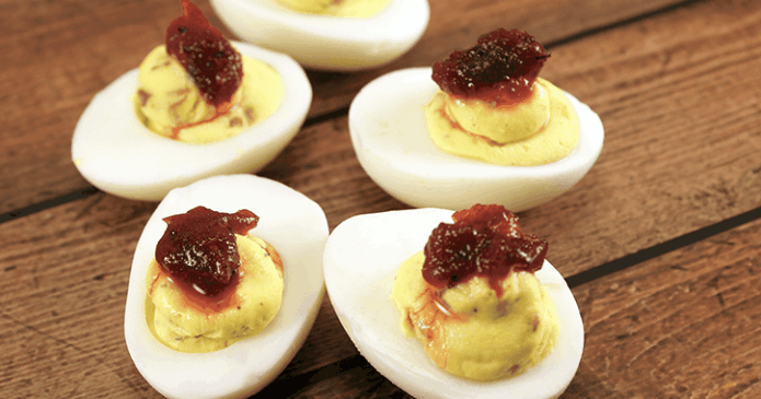 Thanksgiving Deviled Eggs