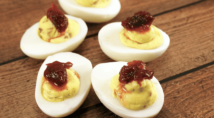 My Thanksgiving deviled eggs recipe is a great way to enjoy the taste of Thanksgiving in one bite!