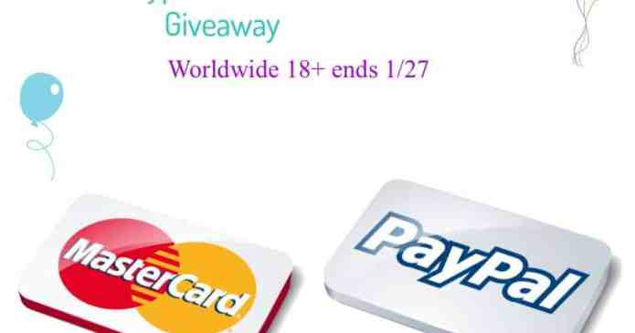 Mastercard or Paypal Cash Giveaway!!