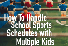 how to handle school sport schedules with multiple kids