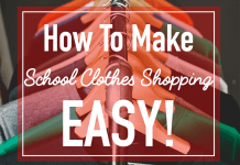 How to make school clothes shopping easy!
