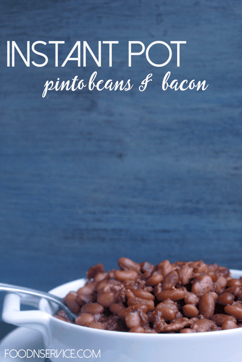 Instant Pot Pinto beans and bacon. You Can cook a bag of dri..