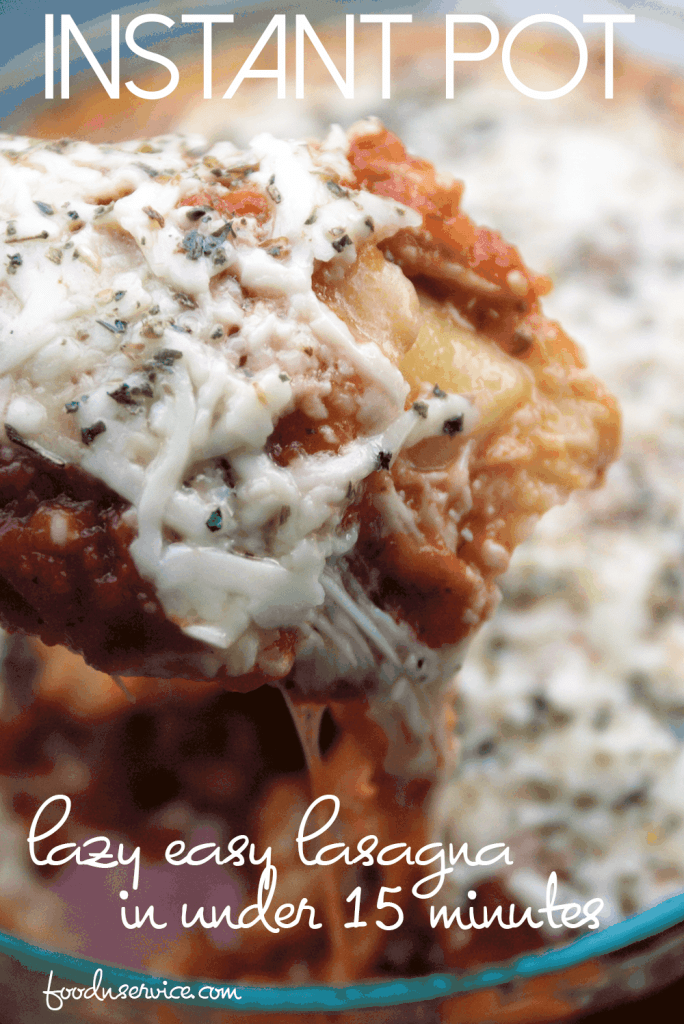 This instant pot lasagna is the laziest and easiest way to make one in under 15 minutes!
