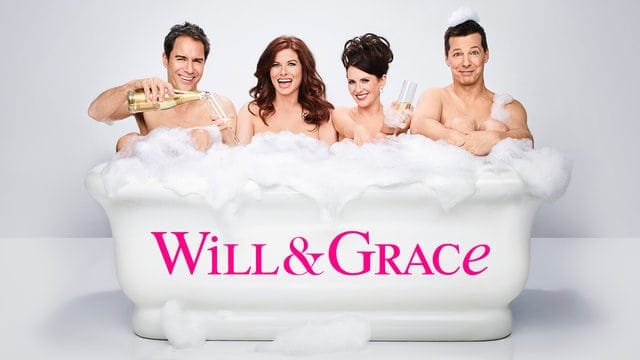 Will and Grace returns September 28, 2017, and you get to enjoy these strawberry prosecco popsicles that they would totally approve of!