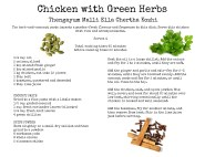 Chicken with Green Herbs