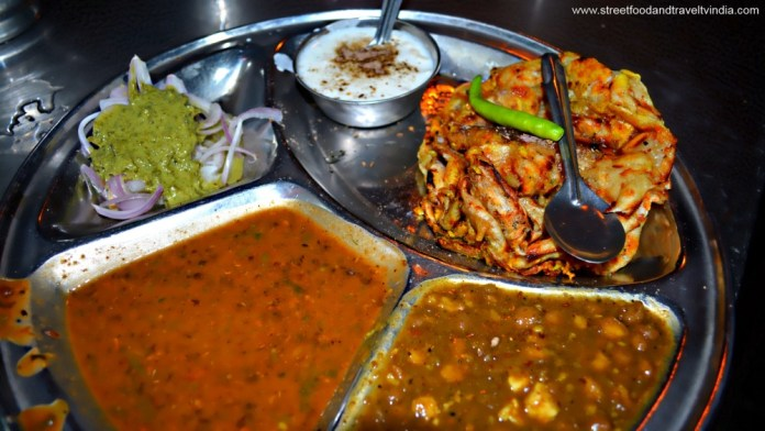 North Indian Thali. Street Foods of Delhi, India.