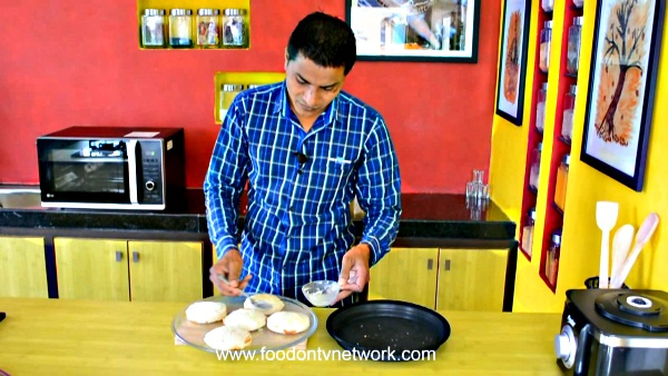 Home made Paneer Sandwich Kachori Recipe.