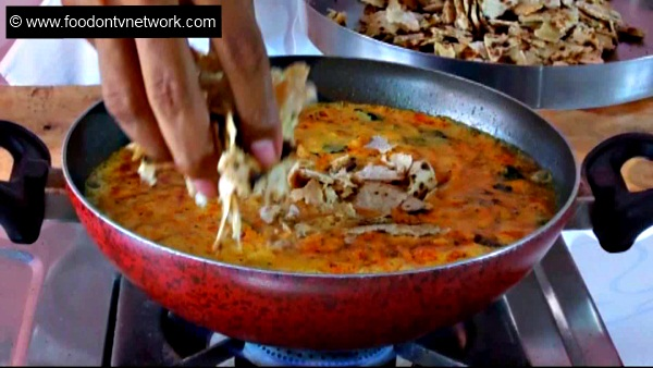 How to make Chapati Curry Soup Recipe.