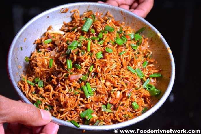 Vegetarian Chinese Bhel Recipe.