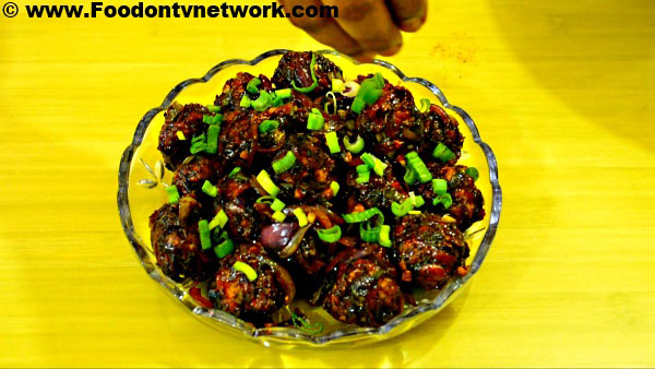 Home Made Veg Manchurian Recipe.