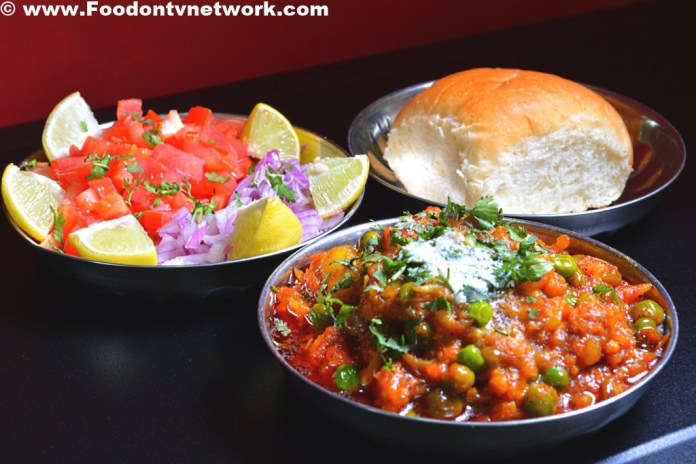 Home Made Pav Bhaji Recipe.