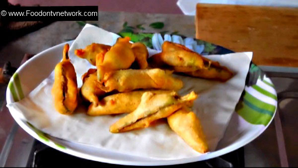 Mirchi Bhajji Recipe. Chilli Fritters Recipe. Indian Snack Recipe.