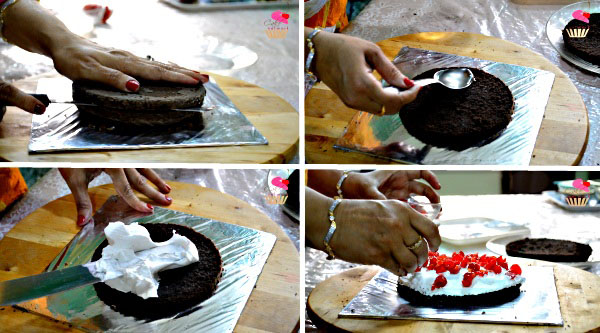 Black Forest Cake Recipe. Eggless Cake Recipe. Chocolate Cake Recipe.