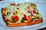 Bread Pizza Without Oven Recipe. Bread Pizza on Tawa. Indian Fast Food Recipe. Quick Bread Pizza Recipe.