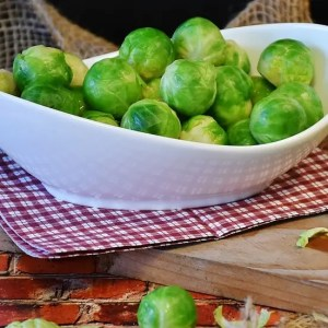 Brussels Sprouts, a rich source of Vitamin B6 and Folate (B9)