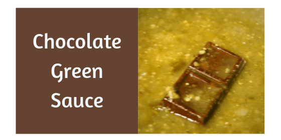 Chocolate Green Sauce