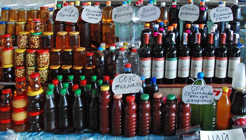 Gagra - Market - Wine, Honey and Sauces