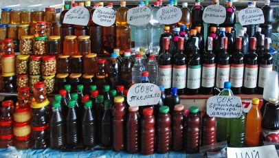 Gagra - Market - Wine, Honey and Sauces