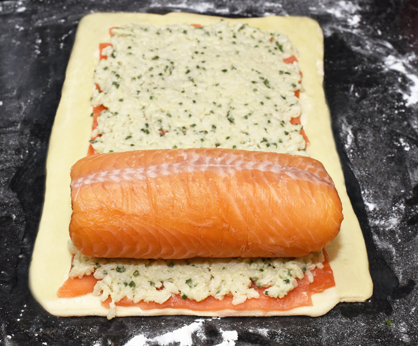Russian Food - Salmon Coulibiac