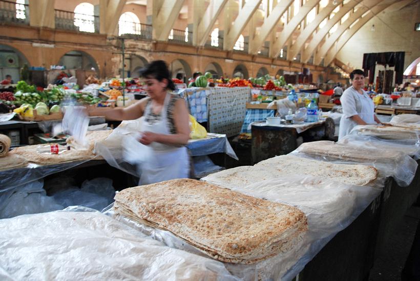 Armenia - Yerevan Market - Lavash