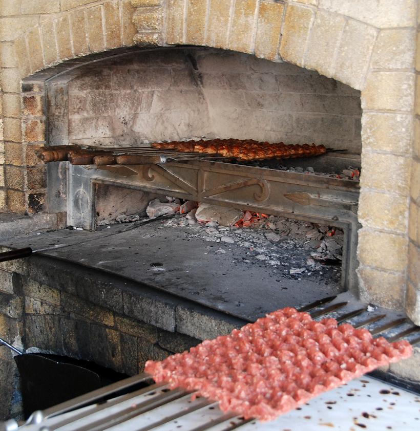Armenia - Yerevan - Artashi Mot Restaurant - Making Kebabs