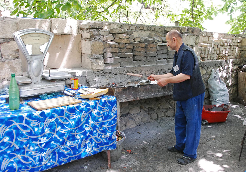 Ordubad - Shora Cheshme Restaurant - Kitchen