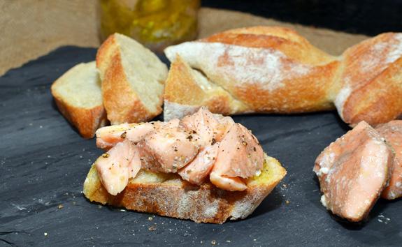 Russian Cuisine - Jarred Salmon