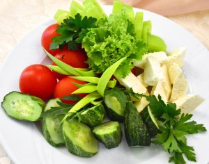 Moldovan Food - Cricova Winery - Vegetables and Brinza