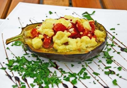 Moldovan Food - Restaurant Pani Pit - Stuffed Eggplant