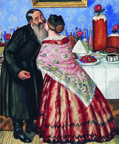 Kustodiev - Easter Greetings (1912)