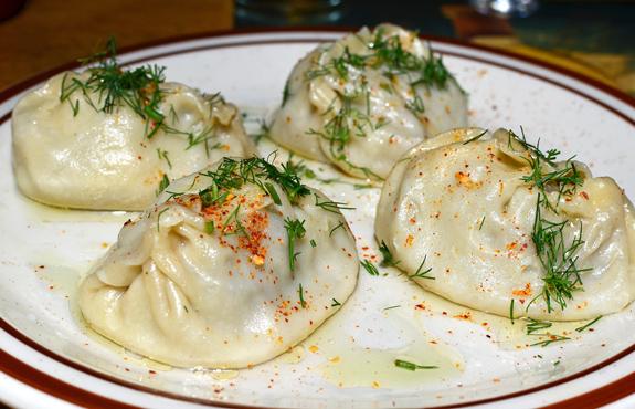 Uzbek Cuisine - Kebeer - Manty