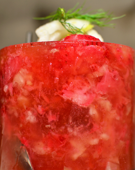 Russian Cuisine - Ariana - Strawberry Fennel Cocktail