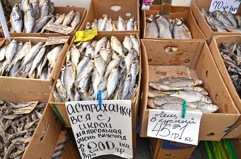 Ukraine - Odessa - Privoz Market - Seafood