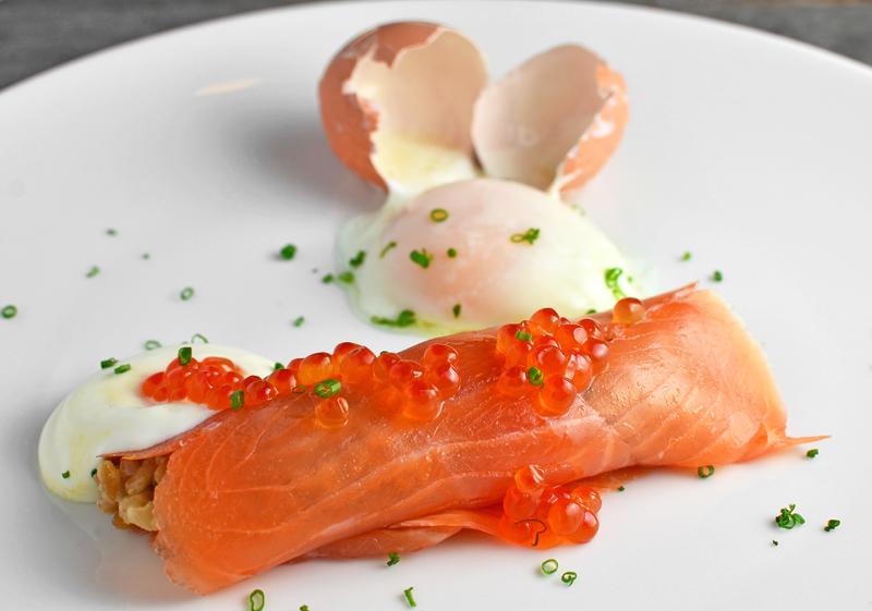 Russian Food - Blini With Smoked Salmon