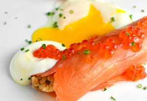 Russian Food - Blini With Smoked Salmon
