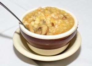 Sammy's Roumanian Steakhouse - Mushroom-Barley Soup