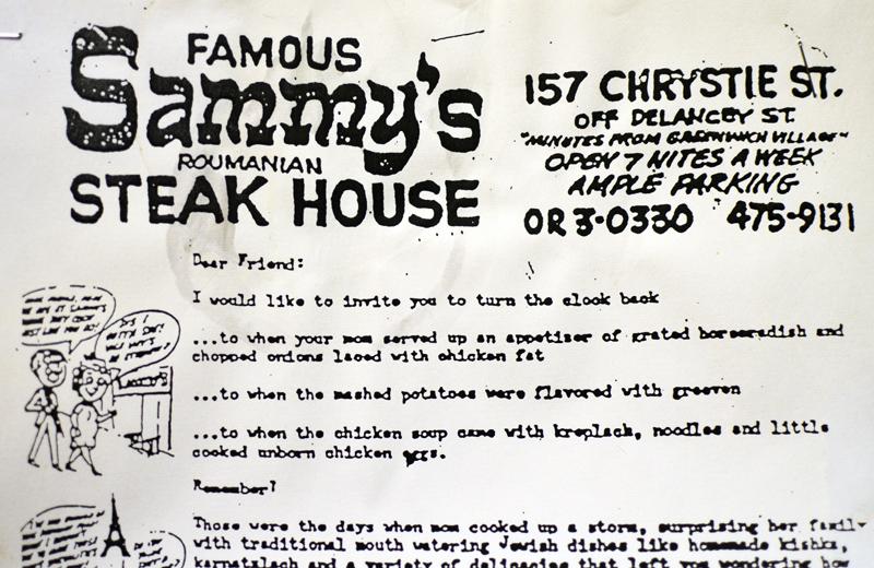 Sammy's Roumanian Steakhouse