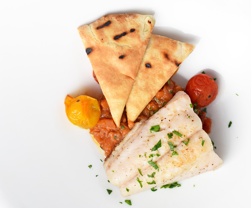 Grilled Pike, Liberland Ajvar and Flatbread