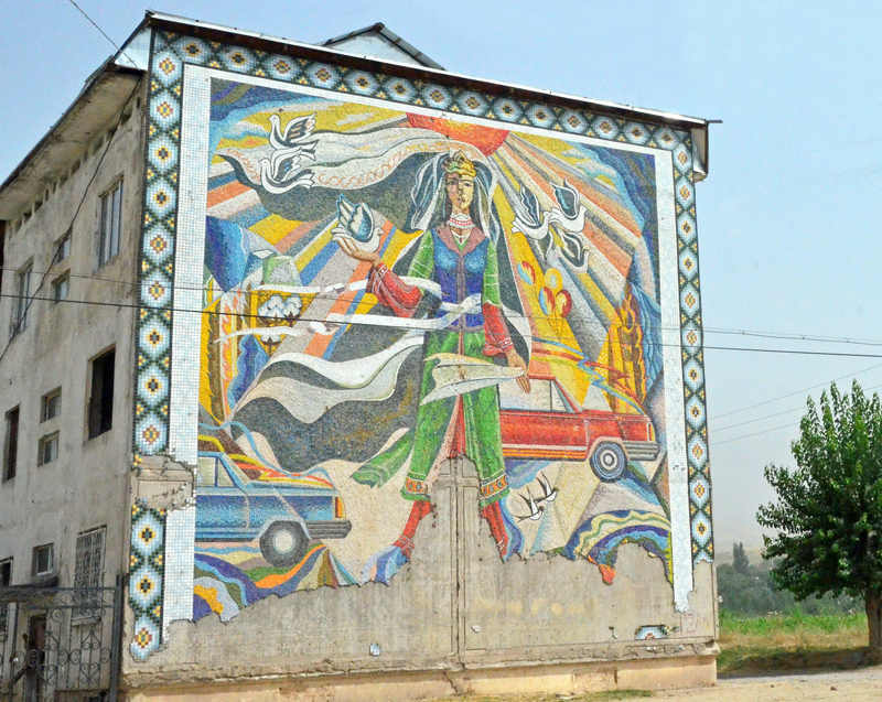 Road to Tursunzoda Border - Soviet Mosaic