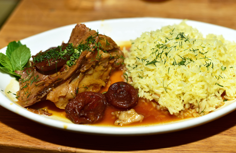 Uzbek Cuisine - Uma's - Roasted Leg of Lamb
